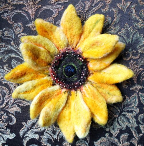 Felted Sunflower