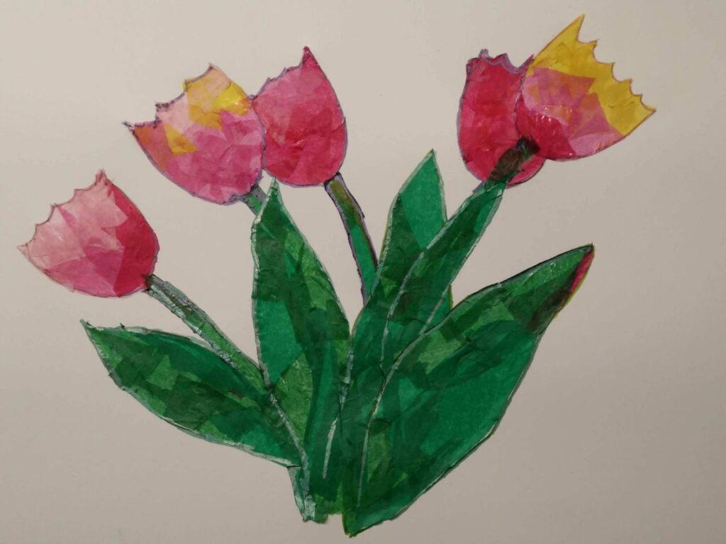 Tissue Tulips Bouquet