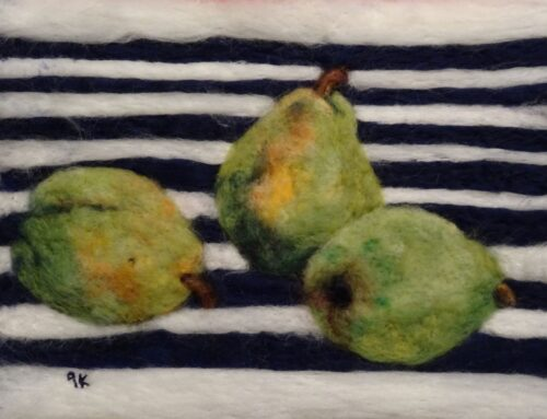 Still Life with Green Pears
